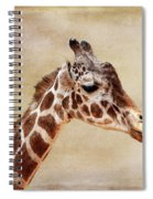 Giraffe Portrait With Texture Spiral Notebook