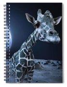 Giraffe On Moon Spiral Notebook