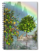 Giraffe Rainbow Heaven Spiral Notebook