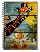 Giraffe Rustic Spiral Notebook