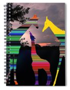 Giraffes In A Sunset Spiral Notebook