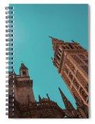 La Giralda Bell Tower Brilliantly Lit In Teal And Orange Spiral Notebook