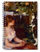 Girl And Cat 1882 Spiral Notebook