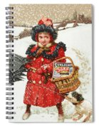 Girl And Dog In Ad For Sunlight Soap Spiral Notebook