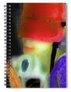Girl And Puppy Painting Spiral Notebook