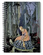 Girl And Turtle Spiral Notebook
