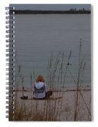 Girl At Beach Spiral Notebook