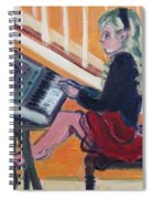 Girl At Keyboard Spiral Notebook