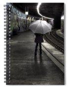 Girl At Subway Station Spiral Notebook