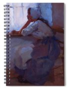 Girl At The Window 1885 Spiral Notebook