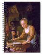Girl Chopping Onions Spiral Notebook