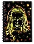 Girl Fireworks Spiral Notebook