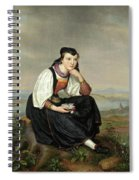 Girl From Hessen In Traditional Dress Spiral Notebook
