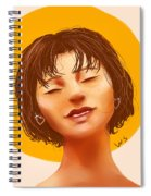 Girl From The Sun Spiral Notebook