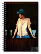Girl In A Barn Spiral Notebook