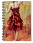 Girl In A Copper Dress IIi Spiral Notebook