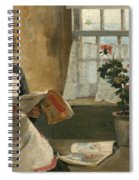 Girl In A Cottage Window Spiral Notebook