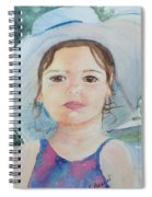 Girl In A Hat Portrait Spiral Notebook