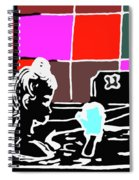Girl In Bath Spiral Notebook