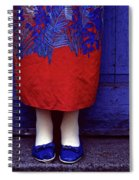 Girl In Colorful Flower Dress Spiral Notebook