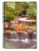 Girl In Orange Spiral Notebook