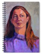 Girl In Purple Spiral Notebook