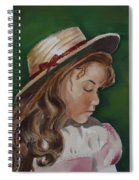 Girl In Ribboned Straw Hat Spiral Notebook