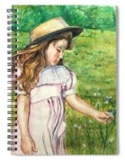 Girl In Straw Hat Spiral Notebook