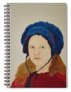 Girl In The Blue Bonnet Spiral Notebook