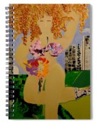 Girl In The City Spiral Notebook