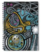 Girl In The Moon Spiral Notebook
