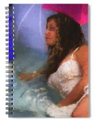 Girl In The Pool 1 Spiral Notebook