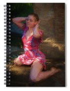 Girl In The Pool 10 Spiral Notebook
