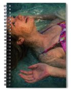Girl In The Pool 11 Spiral Notebook