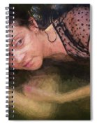 Girl In The Pool 13 Spiral Notebook