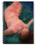 Girl In The Pool 14 Spiral Notebook