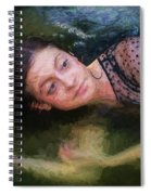 Girl In The Pool 15 Spiral Notebook