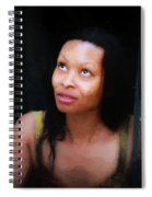 Girl In The Pool 17 Spiral Notebook