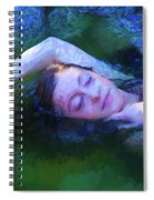 Girl In The Pool 20 Spiral Notebook