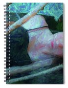 Girl In The Pool 23 Spiral Notebook