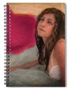Girl In The Pool 4 Spiral Notebook