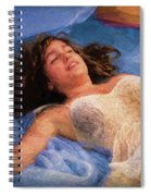Girl In The Pool 5 Spiral Notebook