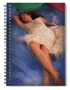 Girl In The Pool 6 Spiral Notebook