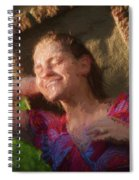 Girl In The Pool 9 Spiral Notebook