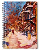 Girl In The Red Jacket Spiral Notebook
