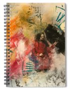 Girl In Time Spiral Notebook