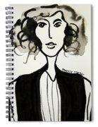 Girl In Vest Spiral Notebook