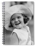 Girl In Wide Brimmed Hat, C.1930s Spiral Notebook