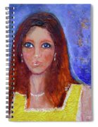 Girl In Yellow Dress Spiral Notebook