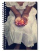 Girl Is Holding A Heart Spiral Notebook